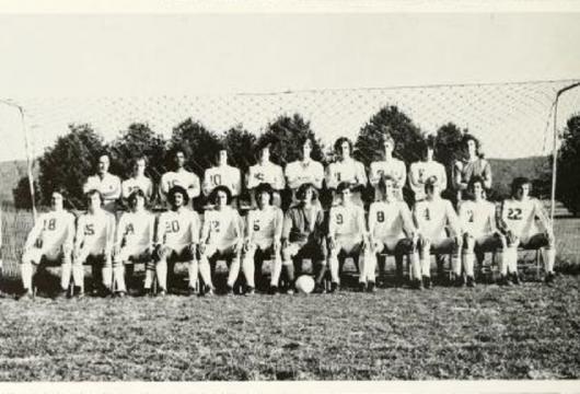 Brevard College soccer team yearbook photo