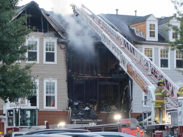 At least 4 displaced after fire at Raleigh townhouse complex