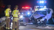 IMAGES: Highway Patrol: Man fell asleep behind wheel, crashed into bridge