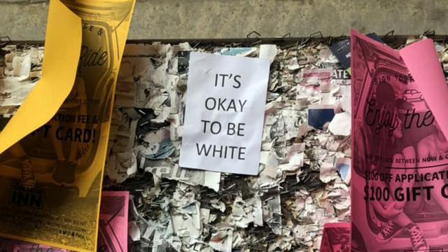 ab152631231  OK to be white  fliers show up at NCSU