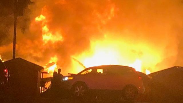 Portion of U.S. 70 Business closed near Smithfield as crews battle fire
