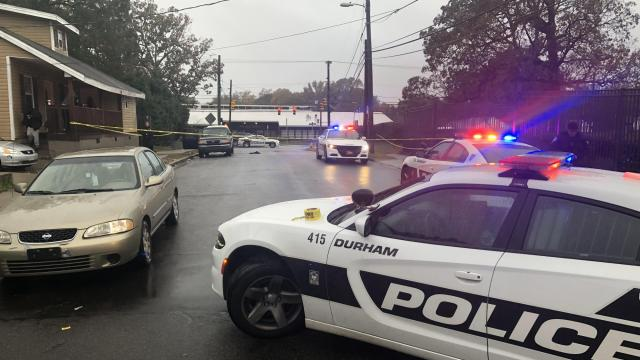 Durham police were investigating two shootings Monday morning. Each sent a single person to the hospital, police said.