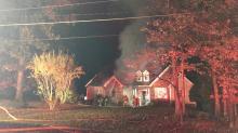 IMAGE: 45 firefighters battle fire that left Durham family homeless