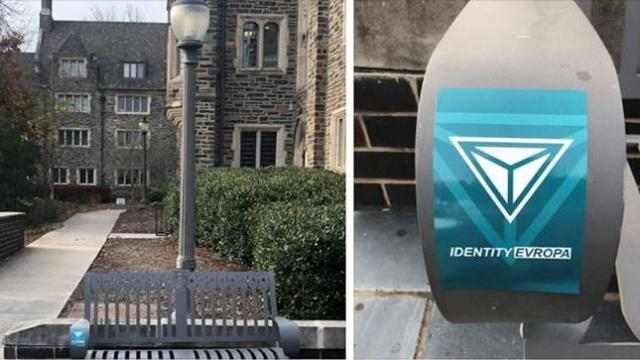 Neo-Nazi stickers spotted on Duke campus