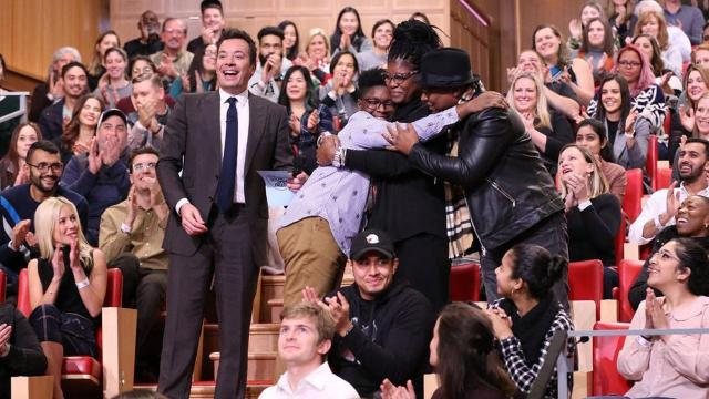 Tuesday night, on The Tonight Show Starring Jimmy Fallon, Fallon surprised a North Carolina couple with a random act of kindness.