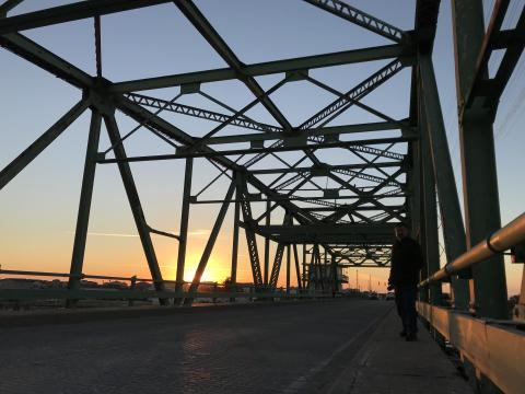 Kay Ballance spent the morning photographing the Surf City Swing Bridge.