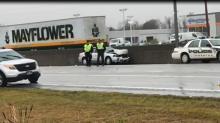 IMAGES: Lumberton police mourn officer killed while investigating crash on I-95