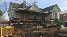 IMAGES: Historic houses on the move in Raleigh's Oberlin Village