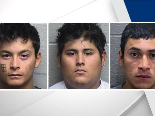 Manuel Mejia-Mendoza, left, Kevin Antonio Linares-Romero (center) and Oscar Velis-Argueta (right) (Photo: Durham police)<br/>Web Editor: Alfred Charles