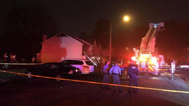Person injured in Raleigh townhouse fire