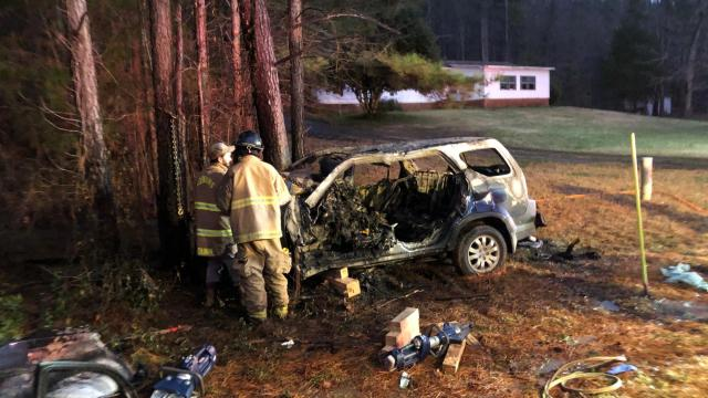 Driver dies in Moore County car fire
