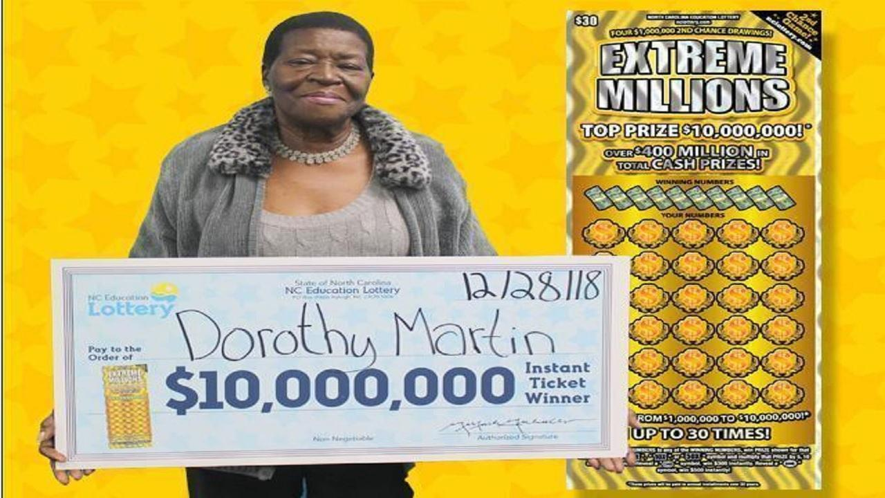NC great-grandmother wins $10 million in Christmas Eve