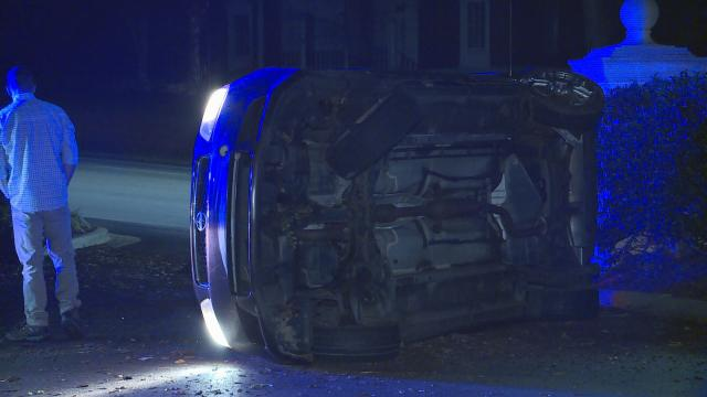 Car Loses Control On Glenwood Avenue in Raleigh