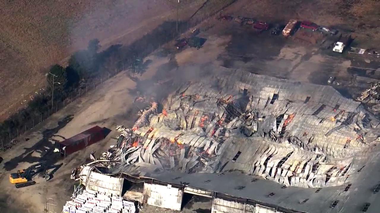 Bunn hemp warehouse fire :: WRAL com