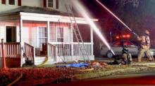 IMAGES: Fire damages Clayton home