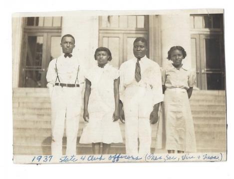 Jesse Francis, left, 1937
