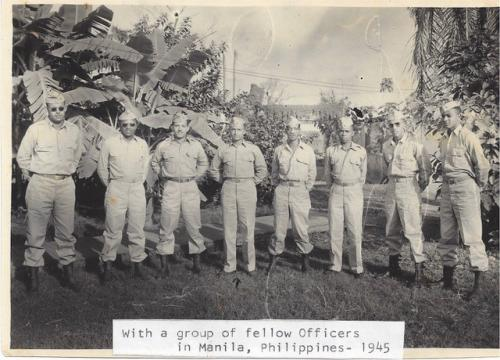 Francis with a group of fellow officers in 1945