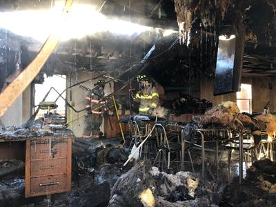 Moore County mobile classroom catches fire