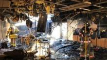 IMAGES: Moore County mobile classroom catches fire