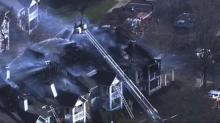 IMAGES: Apartment fire near Cary Crossroads