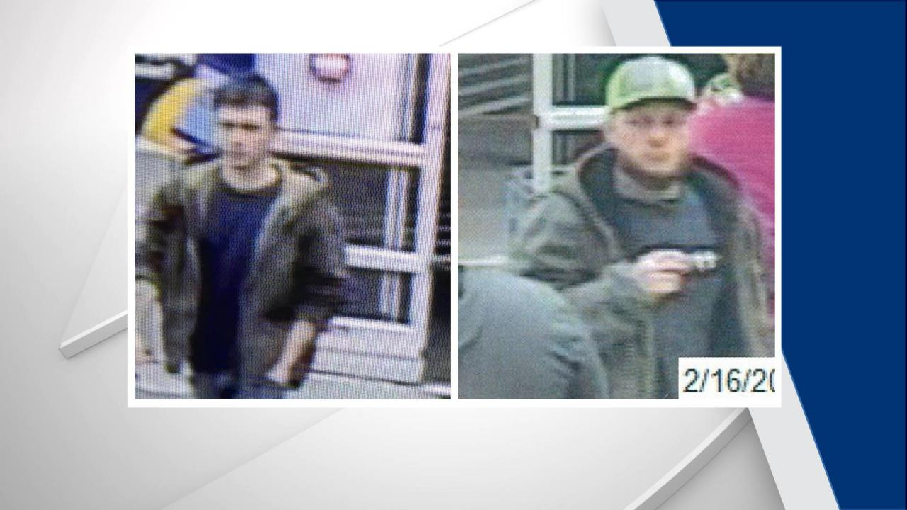 Police looking for two men after razor blades found on shopping cart