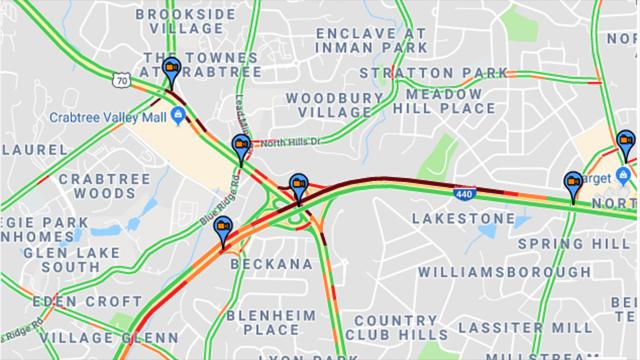 Google Traffic Maps Image Of I 440 2 40 P M On March 1 2019