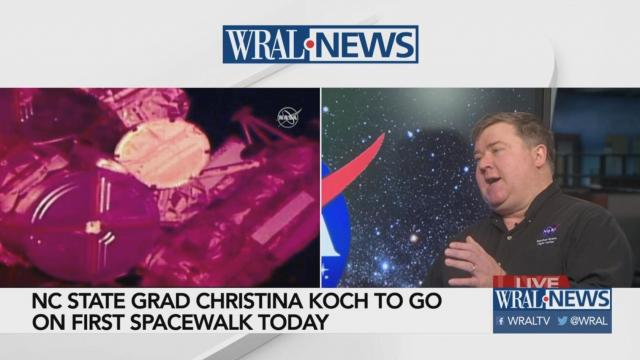 NC State grad's spacewalk is still happening, but it's no longer historic. Here's why.