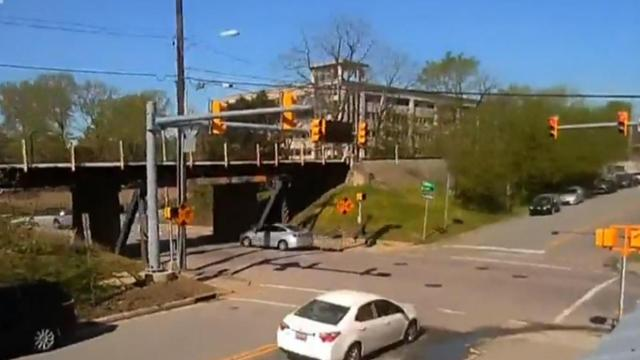 'Can opener bridge' camera shows effect of Durham explosion