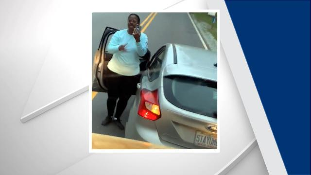 A Durham school bus driver captured an image of a woman who police say has been driving erratically for months. Police cited the woman in the case.