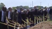 IMAGE: Ceremonial ground breaking held to kick off start of Rocky Mount cargo hub