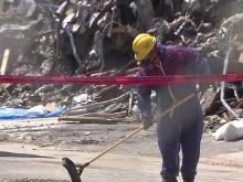 Cleanup underway at Durham explosion site