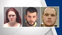 IMAGES: 3 held in attack on Raleigh man beaten with baseball bat before being dumped over bridge