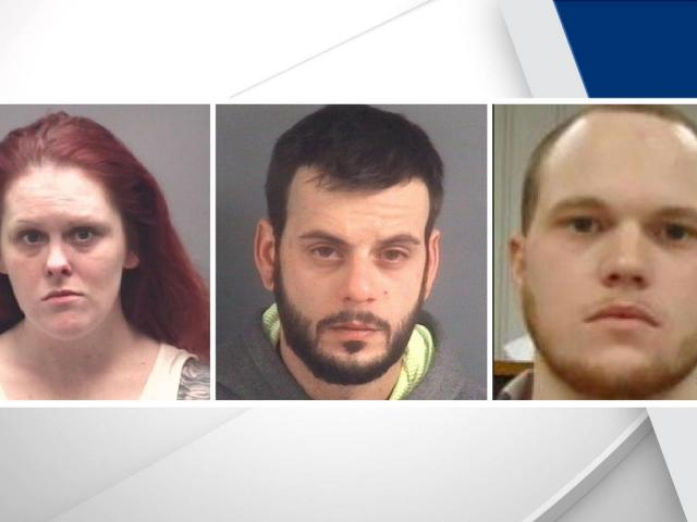 Brittney Lynne Darnell, Samuel Murrell (center) and David Richardson (Photo: Alamance County Sheriff's Office)<br/>Web Editor: Alfred Charles