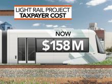 Cost of failed light rail continues to rise