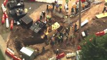 IMAGE: Training, timing contribute to rescue after worker trapped in trench at NCCU