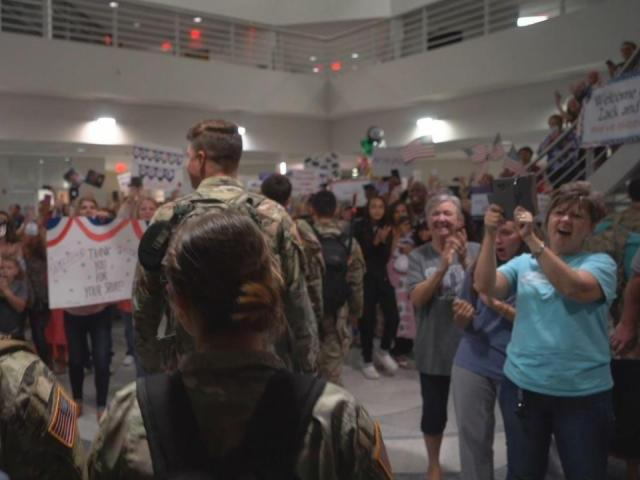 NC National Guard soldiers return home for Father's Day