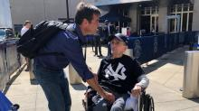 IMAGES: Birthday wish: Smithfield man, 100, flies to New York to see the Yankees