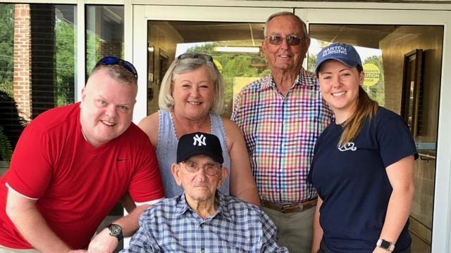 Birthday wish: Smithfield man, 100, attends first Yankees game in New York
