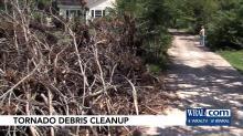 IMAGE: Zebulon homeowner upset with piles of storm debris still around
