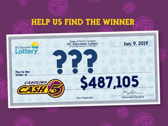 Winning Cash 5 lottery ticket bought in Harnett County about