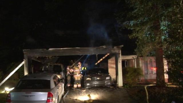 Authorities: Discarded fireworks caused Cary house fire on