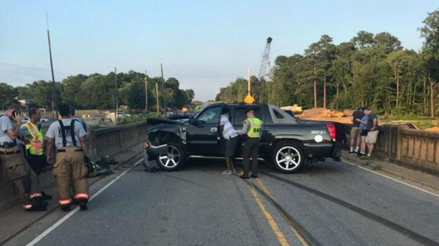 Crash temporarily closes part of NC 42 East in Clayton