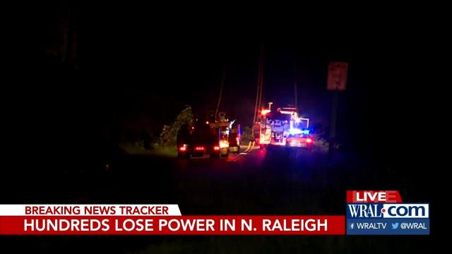 Power outage after tree falls on Creedmoor Road