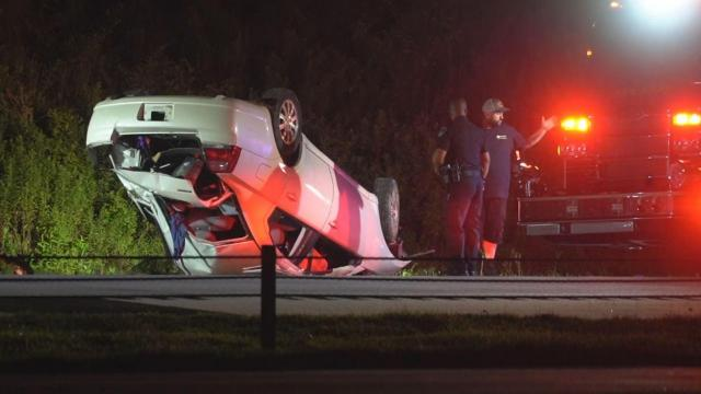SUV slams into firetruck while crews investigate crash on I-540 in