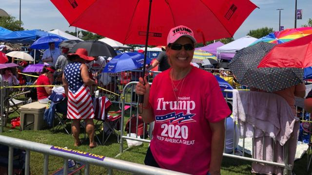 Long lines form at ECU hours before President Trump rally