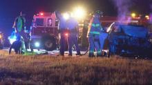 IMAGES: Raleigh police officer injured in crash on I-40