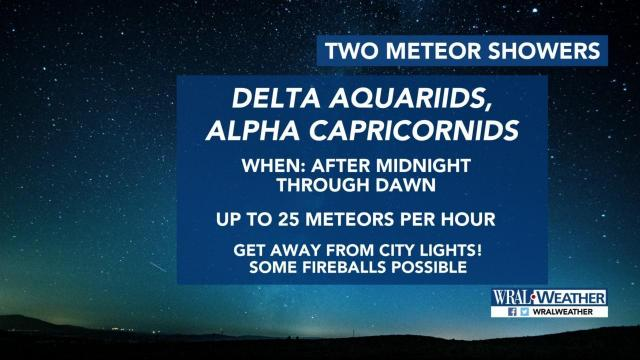 Check out two meteor showers starting at midnight through