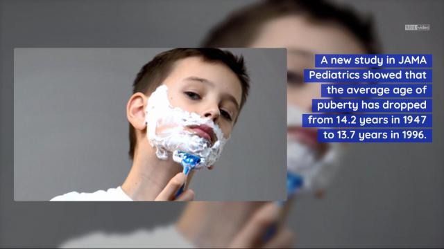 Study says boys hitting puberty sooner