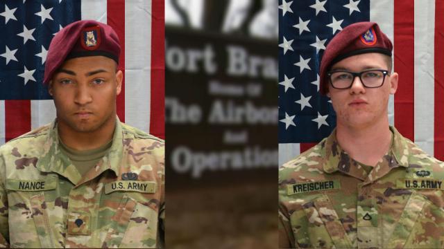 Spc. Michael Nance and Pfc. Brandon Kreischer (Fort Bragg photos)