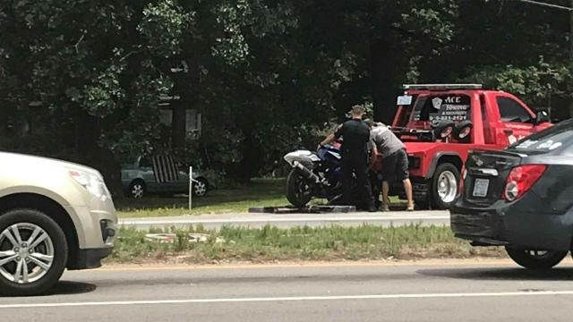 Motorcycle accident in Raleigh